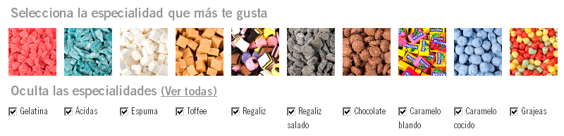 Selección Pick and Mix